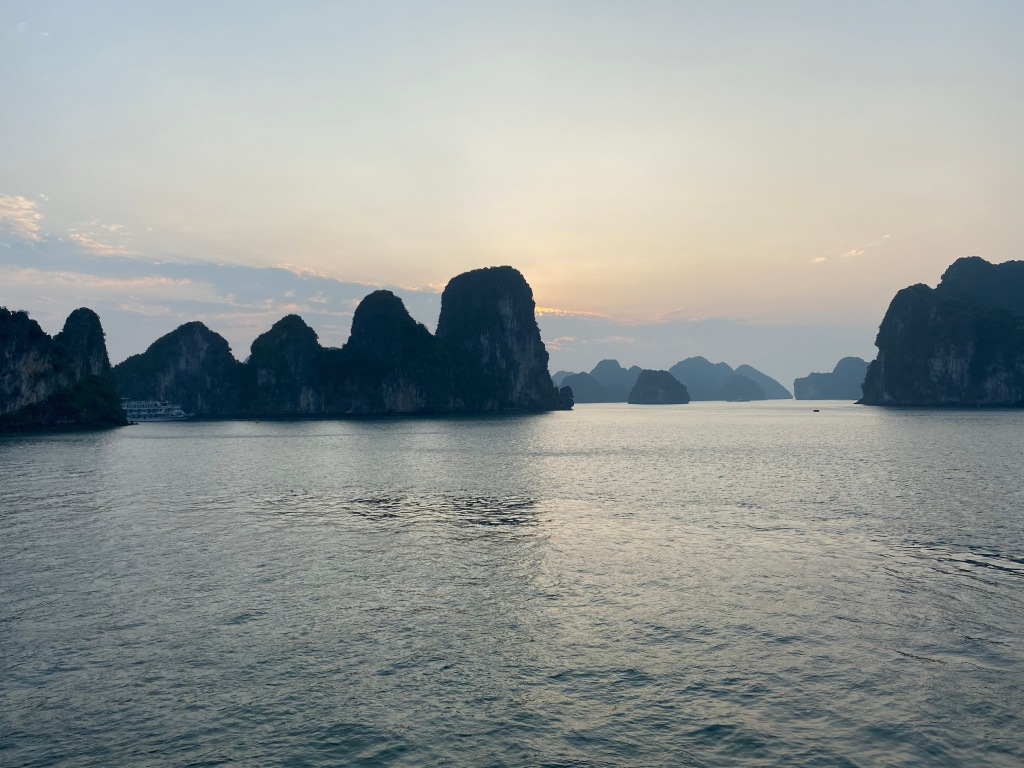 Halong Bay during sunrise