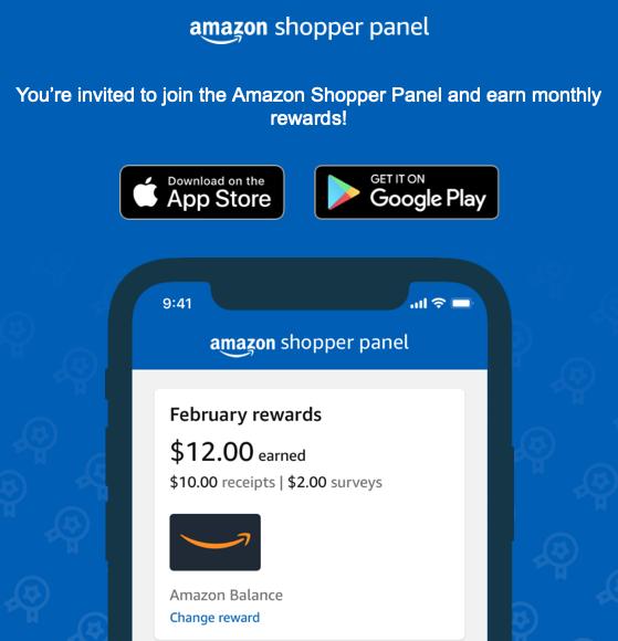 Amazon Shopper Panel Invitation